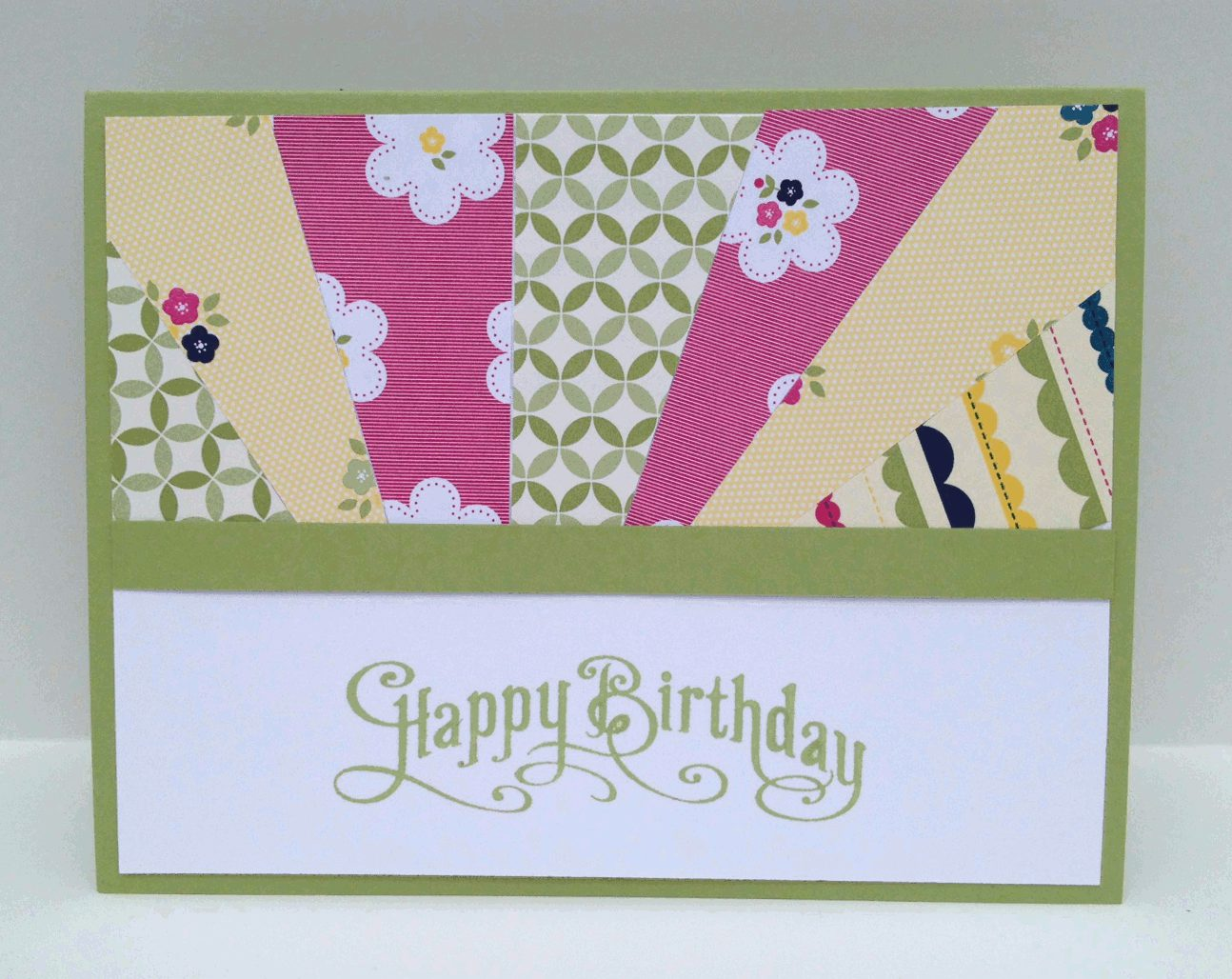 Sunrise technique card with gingham garden designer paper for Landscape design paper